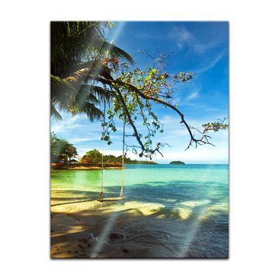 Glasbild - Tropical beach under blue sky - Thailand – Bild 5