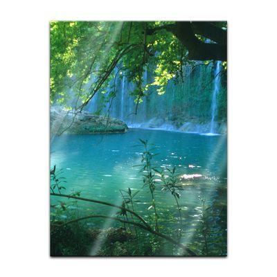 Glasbild - Kursunlu Wasserfälle - Türkei – Bild 5