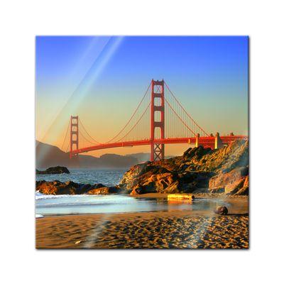 Glasbild - Golden Gate – Bild 1