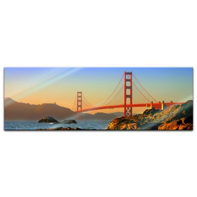 Glasbild - Golden Gate – Bild 6