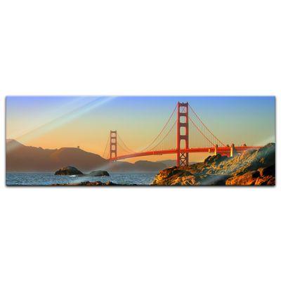 Glasbild - Golden Gate – Bild 6