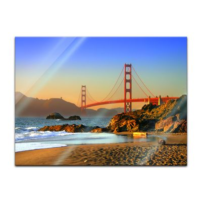 Glasbild - Golden Gate – Bild 4