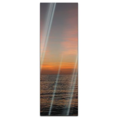 Glasbild - Sonnenuntergang am Meer – Bild 7