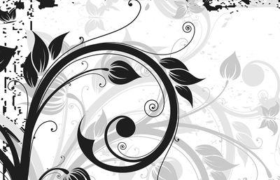 Fototapete - Blumen Grunge III  – Bild 4