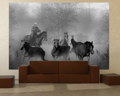 Fototapete - Cowboy mit Pferden – Bild 5