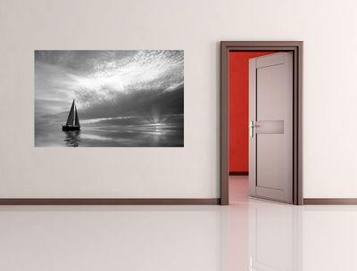 Fototapete - Segelboot im Sonnenuntergang – Bild 5