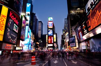 Fototapete - Times Square by Night – Bild 2