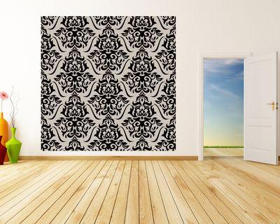 Fototapete - Florales Muster Tapete – Bild 3