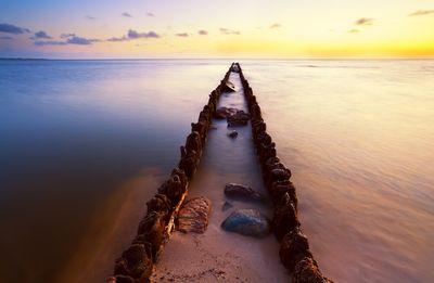Fototapete - Sonnenuntergang über der Nordsee Friesland – Bild 2