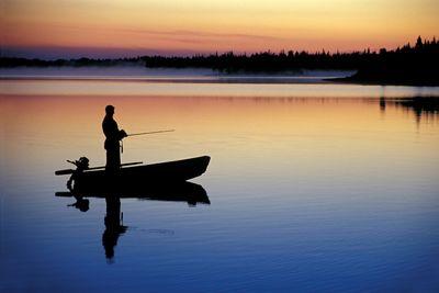 Fototapete - Angler in Norwegen – Bild 2