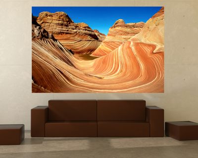 Fototapete - Coyote Buttes Nord - The Wave II – Bild 1