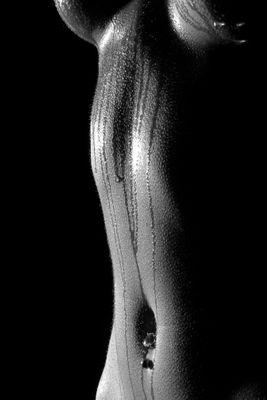 Fototapete - Frau Erotik schwarz weiß – Bild 2