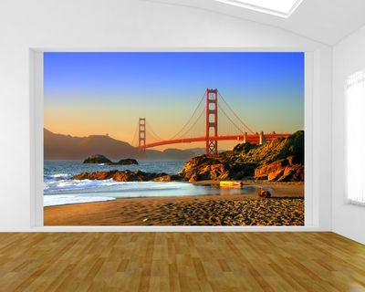 Fototapete - Golden Gate – Bild 1