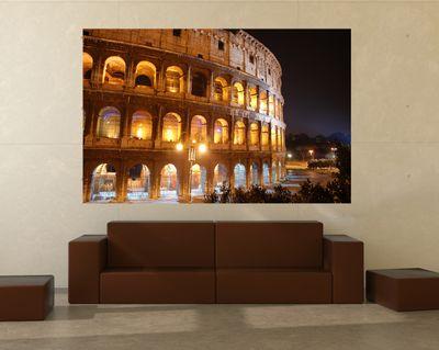 Fototapete - Kolosseum bei Nacht – Bild 1