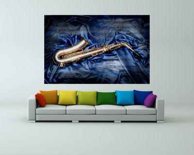 Fototapete - Saxophon – Bild 1