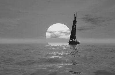 Fototapete - Segelboot – Bild 6