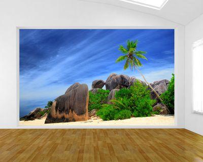 Fototapete - Seychellen - Digue Island – Bild 1