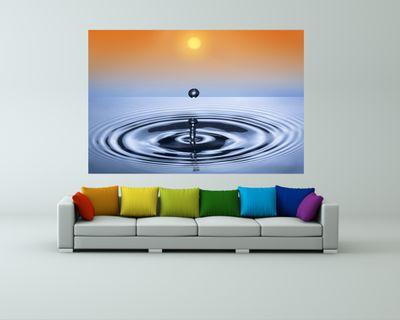 Fototapete - Waterdrop – Bild 1