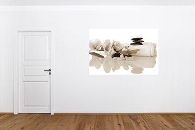 Fototapete - Orchidee und Zen Steine – Bild 5