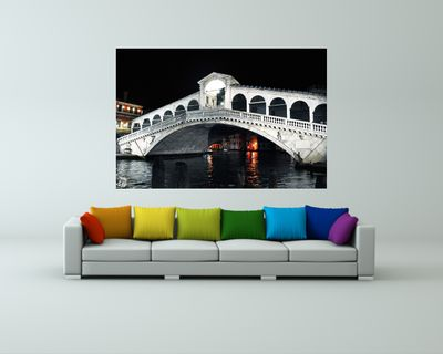Fototapete - Rialto Brücke Venedig Italien – Bild 1