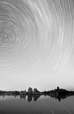 Fototapete - Star Trails over Mono Lake – Bild 6