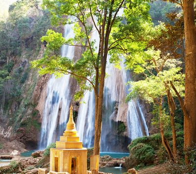 Fototapete - Waterfall in Myanmar – Bild 2