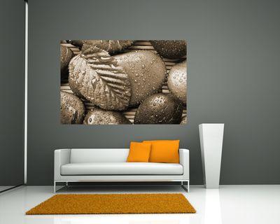 Fototapete - Zen Steine mit Blatt – Bild 5