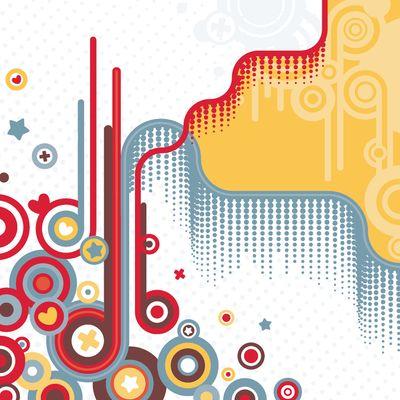 Fototapete - Abstrakt Retro Background II – Bild 2