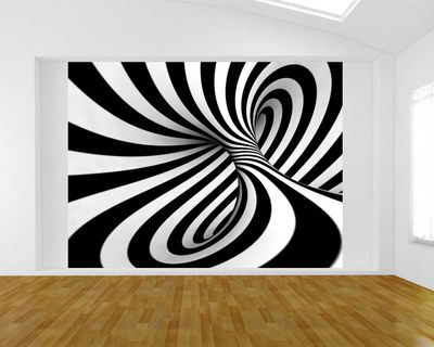 Fototapete - Abstrakte 3D Spirale – Bild 1