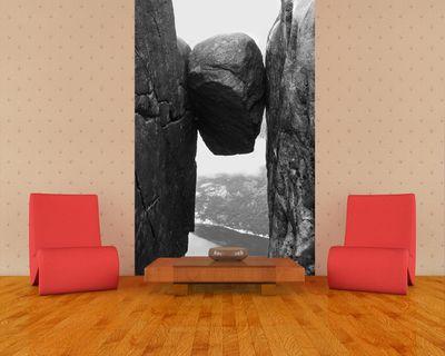 Fototapete - Kjeragbolten Fjord Norwegen – Bild 5
