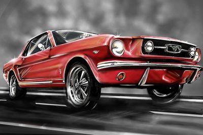 Fototapete - Mustang Graphic – Bild 2