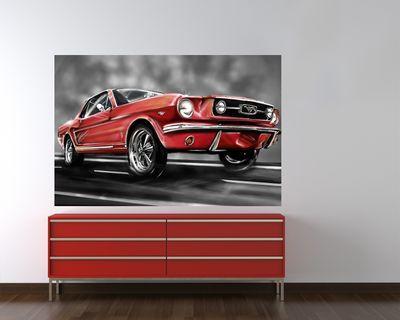 Fototapete - Mustang Graphic – Bild 1