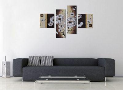 Wandbild Blumen M4 100x70cm 4 teilig P202 – Bild 3