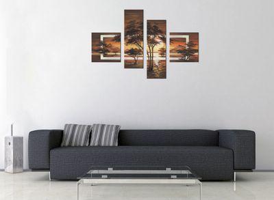 Wandbild African Savannah M2 100x70cm 4 teilig P220 – Bild 3