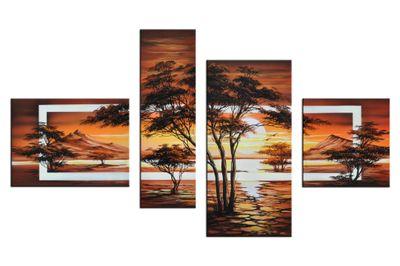 Wandbild African Savannah M2 120x70cm 4 teilig P312 – Bild 2