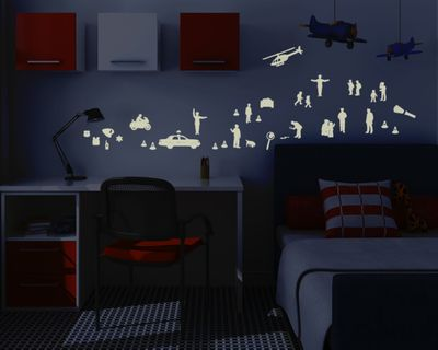 Leuchtfolie Polizei - Fluoreszierend und Nachtleuchtend – Bild 1
