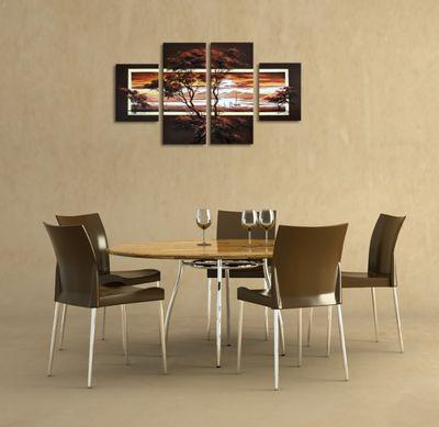 Afrikanische Kunst M1 - Leinwandbild 4 teilig 120x70cm Handgemalt – Bild 4