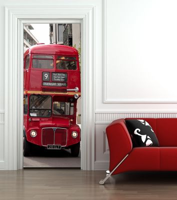 Türaufkleber Alter Doppeldeckerbus in London - UK