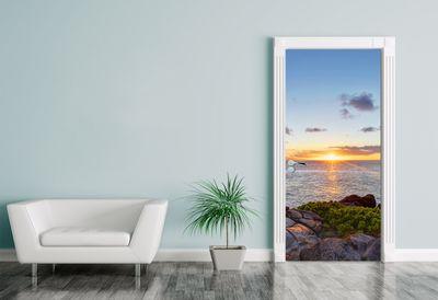Türaufkleber Küstenlinie Maui, Hawaii - USA  – Bild 1