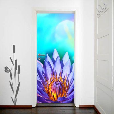 Türaufkleber Lotusblume