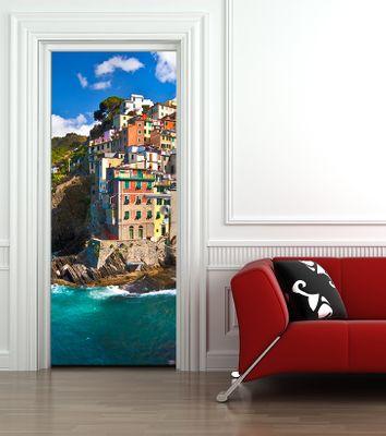Türaufkleber Riomaggiore Fischerdorf in Italien