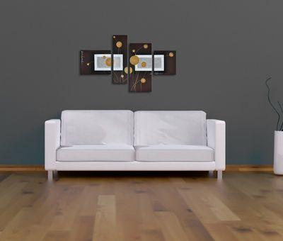 SALE Abstrakt M13 - Leinwandbild 4 teilig 120x70cm Handgemalt – Bild 4