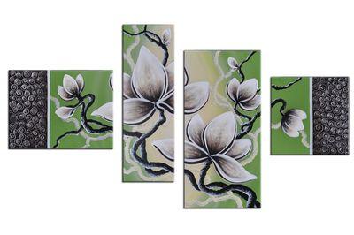 Blume M5 - Leinwandbild 4 teilig 120x70cm Handgemalt – Bild 2