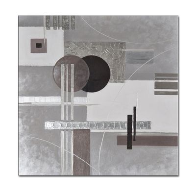 Abstrakte Kunst M7 handgemaltes Leinwandbild 80x80cm - 4cm Galerierahmen! - 807 – Bild 1
