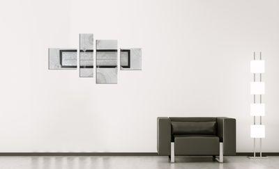 Abstrakte Kunst handgemaltes Leinwandbild 120x70cm 4 teilig 3024 – Bild 3