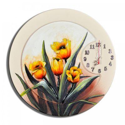 Wanduhr Blumen K 04