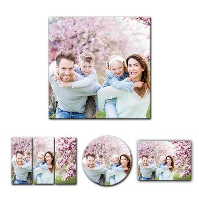 Wunschmotiv Quadrat-Format Foto-Leinwand