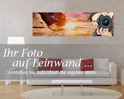 Wunschmotiv Panorama - Format Foto-Leinwand  – Bild 2