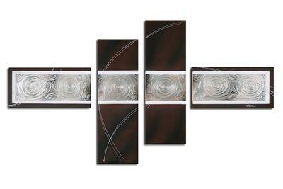 Abstrakt M5 - Leinwandbild 4 teilig 120x70cm Handgemalt – Bild 2