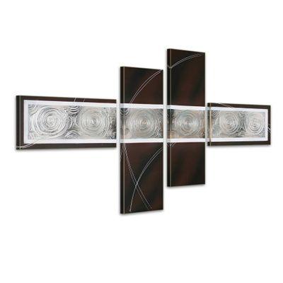 Abstrakt M5 - Leinwandbild 4 teilig 120x70cm Handgemalt